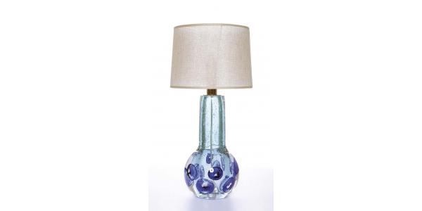 Gita blue crystal lamp